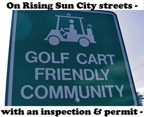 CITY OF RISING SUN GOLF CART RULES