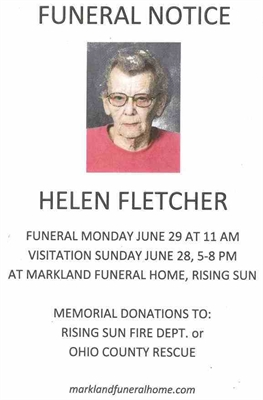 Helen Fletcher Passes Away