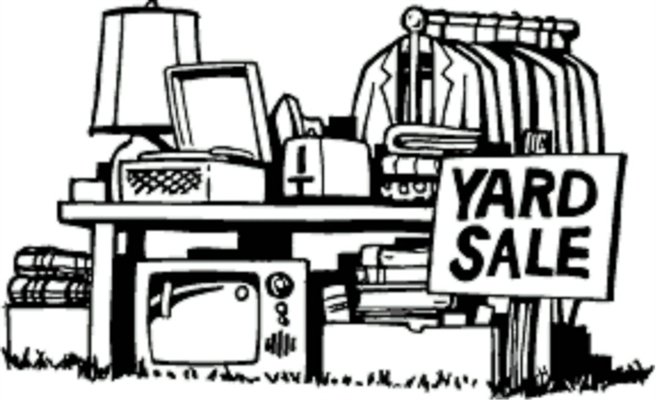 SPRING YARD SALE DATES – APR. 30, MAY 1 & 2