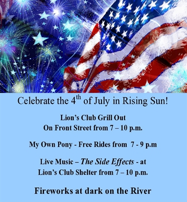 CELEBRATE THE 4TH OF JULY IN RISING SUN