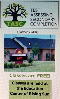 Know Someone Who Needs Their TASC (GED)?