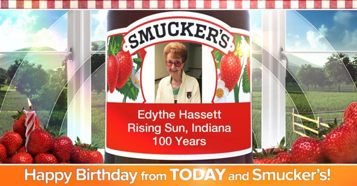 Happy 100th Birthday Edythe Hassett