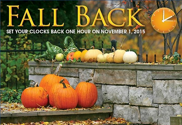 ++ FALL BACK ++ Time Changes November 1
