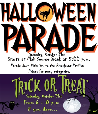 Halloween Parade, Trick-Or-Treat Saturday, October 31st