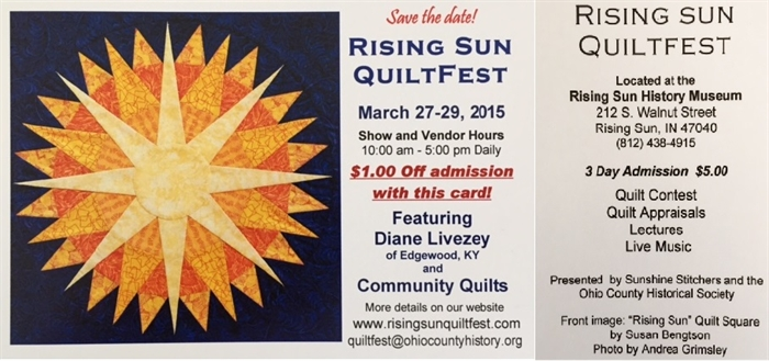 QUILTFEST, March 27, 28 & 29 at the Ohio County Historical Museum