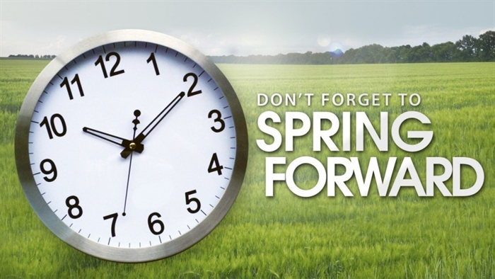 """SPRING FORWARD"" THIS WEEKEND, MARCH 8, 2015"