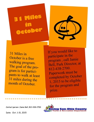 Thirty-One Miles in October Challenge – Free T-shirt For Completion