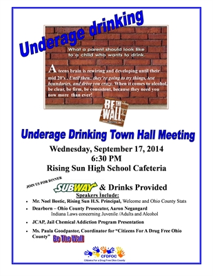 Be The Wall – Underage Drinking Town Hall Meeting