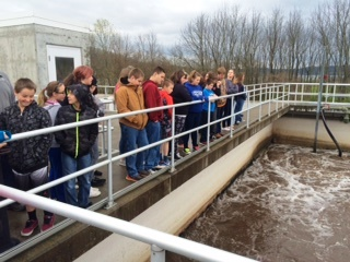 Rising Sun Students Visit City's Wastewater Treatment Plant