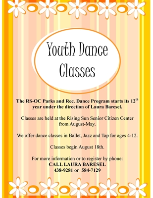 Dance Classes… BALLET…JAZZ…TAP