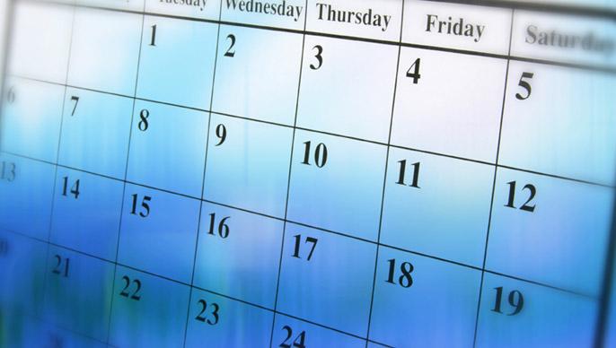 Calendar of Events 2013