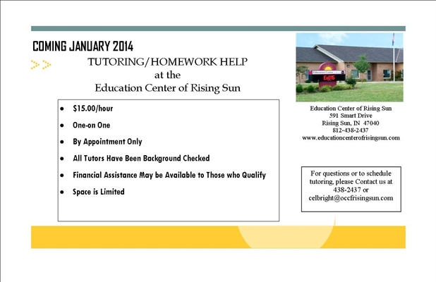 Education Center Tutoring and Homework Help