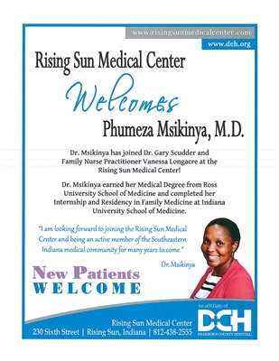 Rising Sun Medical Center Announcing New Doctor