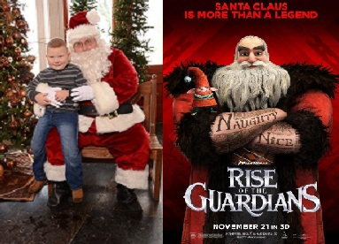 Santa And Movie Sat., Dec. 13th at The Pendleton Art Center